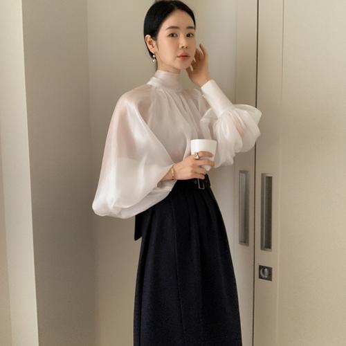 Organza ribbon blouse