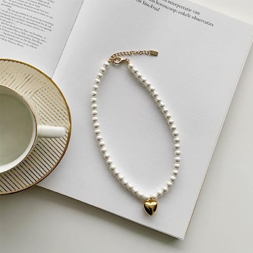 Heart jinju necklace *3월 3째주 입고예정*