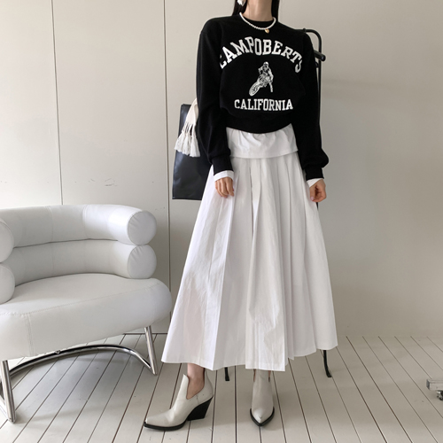 High pleats skirt