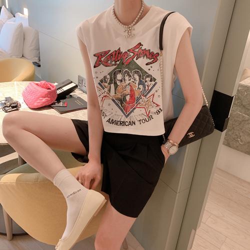 ローリングクロップTシャツ