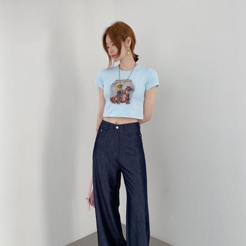 カウガールクロップTシャツ